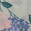 オリジナル浴衣 パステル紫陽花-クリーム,藤色 大人浴衣