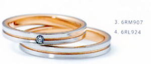 ★NINA RICCI【ニナリッチ】(22)6RM907ダイヤ&(23)6RL924-2本セットマリッジリング・結婚指輪・ペアリング ★お買い得価格の 卸直営店 ケース、送料無料, 消費税込★