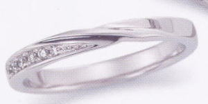 ★お買い得特別価格★EBP-18L(ダイヤ付)Enbrasser Purest(アンブラッセ ピュアレスト 純プラチナ Pt-999)マリッジリング、結婚指輪、ペアリング用(1本) ★刻印、ケース、送料無料。 消費税込★