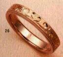 ★【卸直営店のお得な特別割引価格★Angerosa(アンジェローザ)(26)AR-817ハート(Uni)K18PG マリッジリング、結婚指輪...