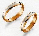 楽天JEWELRY LANDTrue Love トゥルーラブ (31) M374-2 & (32) M374D-2 ダイヤ =2本セット 卸直営店 お得な特別割引価格 Pt900 プラチナ & K18PG ピンクゴールド マリッジリング 結婚指輪 ペアリング