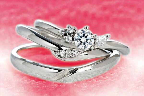 0.25ct.ダイヤモンド婚約指輪(エンゲージリング)/結婚指輪(マリッジリング)3本セットPRF012-025(カリン)【当店のオリジナル製品】
