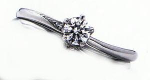 WPR-010E ダイヤモンド(鑑定書付) 婚約指輪 エンゲージリング ★刻印、ケース、送料無料。 消費税込★