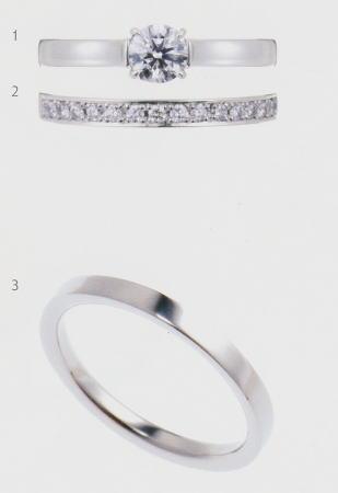0.25ダイヤモンド婚約指輪(エンゲージリング)/結婚指輪(マリッジリング)3本セットNo.L-1 SET【当店のオリジナル製品】