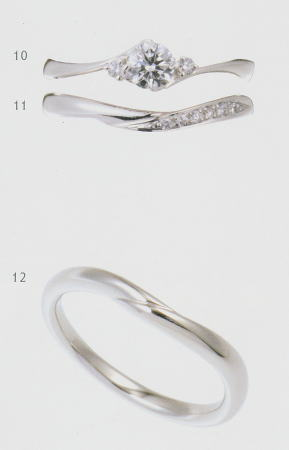 0.2ct.ダイヤモンド婚約指輪(エンゲージリング)/結婚指輪(マリッジリング)3本セットNo.L-20 SET【当店のオリジナル製品】