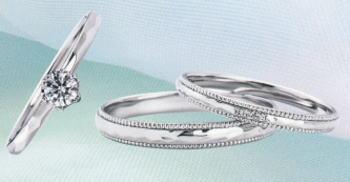 WPR-002 ダイヤモンド(鑑定書付) 婚約指輪 エンゲージリング & 結婚指輪 マリッジリング 3本セット ★刻印、ケース、送料無料。 消費税込★