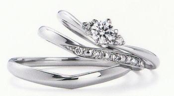 WPR-008 ダイヤモンド(鑑定書付) 婚約指輪 エンゲージリング & 結婚指輪 マリッジリング 3本セット ★刻印、ケース、送料無料。 消費税込★