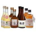 地酒蔵の梅酒(立山梅酒・加賀梅酒・銀盤梅酒・若鶴ウメスキー)300ml8本 飲み比べセット