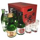 富山の地酒 いやしの薬箱(180ml瓶×6本+素敵なグラスのぐい呑み2個セット