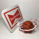 バドワイザーロゴ入りミニバスケットゴールとボールセット(未使用品・年代物)