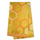【訳あり】正絹 未仕立て 袋帯アウトレット 亀甲 金 ゴールド 礼装【Sランク】番号d518-9