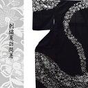 【夏】高級 仕立て上がり 手刺繍 訪問着 駒絽 Lサイズ結婚式 パーティー 礼装用 黒 白 銀 番号g712-204