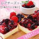 【送料無料】北海道スイーツ チーズケーキ 5種のベリー贅沢レ...