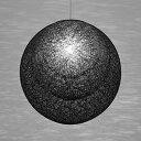 ◎yamagiwa MAYUHANA MA BLACK ペンダントライト E26口金 クリアボールランプ φ95 100W×1灯用 (ランプ付) 引掛シーリング P2909B