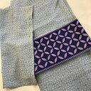 半幅帯/七宝 紫【日本製】浴衣 ゆかた 半巾帯 袋帯