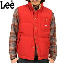 ≪WIP≫【送料無料】【Lee リー】19766 ダウンベスト RED【DOWN VEST】【3色展開】【新品未使用】【19766-209】