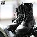 【N】≪WIP≫【アメリカ軍】新品 米軍 G.I. STYLE パイロットブーツ レザージッパー ブラック【新品未使用】ミリタリーブーツの代名詞として愛用され続けているブーツのフロントにジッパーを装着したブーツジッパー付きジャングルブーツです。