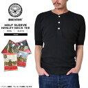 ショッピング保温 HOUSTON ヒューストン 1/2 SLEEVE サーマル ヘンリーネック パックTシャツ【21013】メンズ ミリタリー インナー サーマルウェア 5分袖 五分袖/ 春