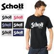 Schott ショット 3163037 ベーシックロゴ Tシャツ《WIP》