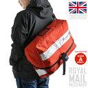 【A】英国の郵便配達員が使用するメッセンジャーバッグ!雑踏の中でも目を惹く鮮やかな赤が特徴的。大量の荷物を運ぶ為の頑丈&大容量な作りで旅行やアウトドア等幅広いシーンにマッチ!