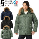 【15%OFFセール開催中】Valley Apparel バレイアパレル MADE IN USA N-3B フライトジャケット《WIP》メンズ アウター ブルゾン ミリタ..