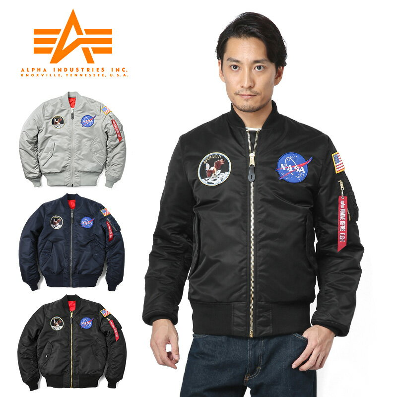 【20%OFF大特価】ALPHA アルファ TA0113 NASA APOLLO TIGHT MA-1 フライトジャケット★