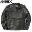 AVIREX アビレックス 6181048 SHEEP SKIN シングルライダースジャケット /【クーポン対象外】ミリタリー 軍物