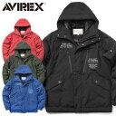15%OFFクーポン対象商品!AVIREX アビレックス 6172132 ACTIVE MILITARY フード ジャケット