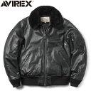 AVIREX アビレックス 6181050 シープレザー B-15 フライトジャケット《WIP》ミリタリー 軍物 メンズ 男性 ギフト プレゼント
