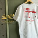 """BARNS 直営 & WAIPER 限定モデル / BARNS OUTFITTERS バーンズ アウトフィッターズ Limited Model S/S クルーネック プリント Tシャツ """"HOME TOWN"""" / アメリカ製 MADE IN USA 【Sx】"""
