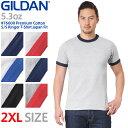 ショッピング綿 【メーカー取次】【2XLサイズ】 GILDAN ギルダン 76600 Premium Cotton 5.3oz S/S アダルト リンガー Tシャツ Japan Fit 【クーポン対象外】《WIP》