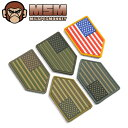 【20%OFFセール開催中】MIL-SPEC MONKEY ミルスペックモンキー パッチ(ワッペン)US Flag Vertical Shield PVC/ミリタリー 軍物 メンズ  ギフト