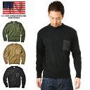 米軍採用モデルのポケット付きコマンドセーターを復刻生産!アクリル100%でチクチク感が無く、着心地・伸縮性ともに◎ シンプルで着回しが利くアイテムです。