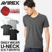 ポイント10倍★クーポンで更に10%OFF★AVIREX アビレックス デイリーウエア UネックTシャツ 半袖 6143506 メンズ トップス Tシャツ インナー 無地 ハーフスリーブ アヴィレックス avirex アビレックス AVIREX Tシャツ メンズ 男性 ギフト プレゼント