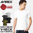 ポイント10倍★クーポンで更に10%OFF★AVIREX アビレックス デイリーウエア 半袖 VネックTシャツ 6143501 メンズ トップス Tシャツ インナー 無地 アヴィレックス avirex