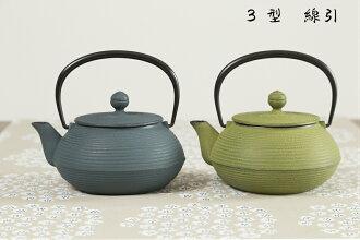 岩鑄南部鐵茶壺 3 型電線南部鐵茶壺南部鐵鐵瓶日本儀器顏色在日本南部鐵岩鑄造的父親一天新娘禮物