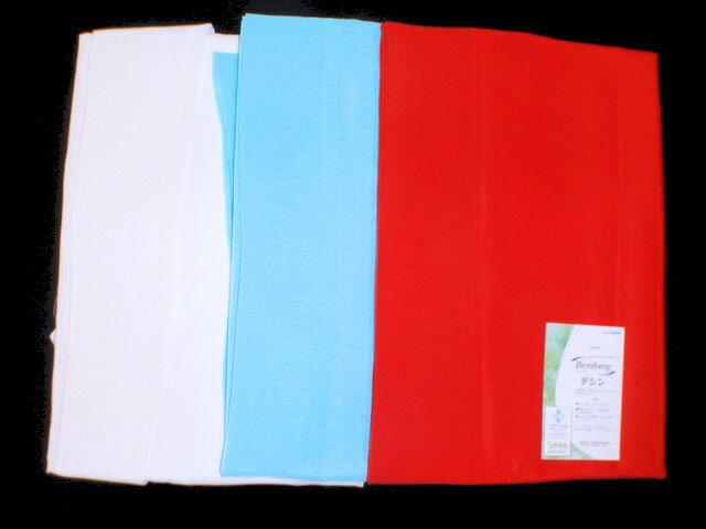 デシン東スカート(裾折り返し)白・赤・水色/M・L裾よけ スカートタイプ