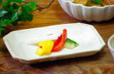 益子焼 kinari 角皿(長方形)陶器の里 益子焼き窯元直送和 食器の器をお届け スクエア型の白い角皿です。揚げ物、刺身、漬物、魚皿に便利な陶器製の和食器です。名入れ可能。
