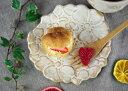 ガーデン フラワープレート kinari 花形 小皿 皿 デザインプレート 2000円以上で送料無料 取り分け皿 生成り かわいい おしゃれ モダン 陶器 和食器
