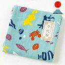 日本市 千代布 海 ガーゼハンカチ Nippon-ichi chiyonuno cotton handkerchief