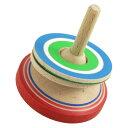 不思議な立体感! 3D独楽(スリーディーこま) 山形県の木地玩具 ※色・柄はお選びいただけません