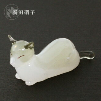 Hirota glass elegant cat chopstick rest