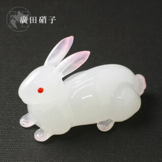 Hirota glass glass chopstick rest rabbit