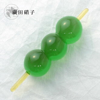 Hirota glass glass confection chopstick rest grass dumpling