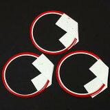 飾り水引 MIZUHIKI和 紅白 (WR-N25) 3個入り