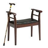 玄関椅子 玄関イス 玄関チェア 杖立て付き 幅64cm 完成品 チェア 椅子 送料無料