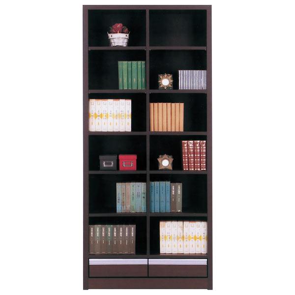 本棚 書棚 本収納 収納家具 幅83cm 完成品 国産 おしゃれ 引き出し付き 送料無料