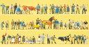 Preiserプライザー13001 牧場で働く人【HO人形】【塗装済み】【ジオラマ人形】