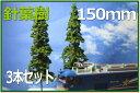 樹木模型針葉樹 150mm 3本セット 欧米風レイアウトにも重宝されるディテールアップした樹木模型セット ミニチュアクリスマスツリー商品ディスプレイ