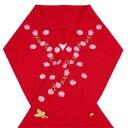 ショッピングセイコー 【SEIKO MATSUDA KIDS】七五三・子供半衿 「花と天使の刺繍(赤)」
